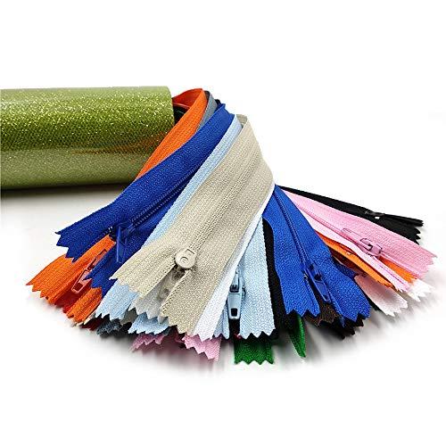 Wholesale Pack Purse Making 5 Inches 100 Count, 20 Assorted Colors Handbag Mandala Crafts Colored Nylon Coil Zipper for Sewing Clothing