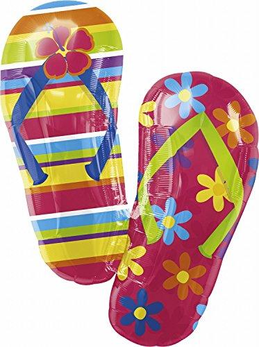 Anagram International, Inc. 14641 Flip Flops Shape Foil Party Balloon, 33