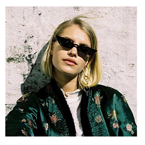DMZing Fashion Women's Vintage Cat Eye Sunglasses Lady Clout Goggles Plastic Frame Retro Small Frame UV400 Eyewear - On Cheap Bans Ray Sale