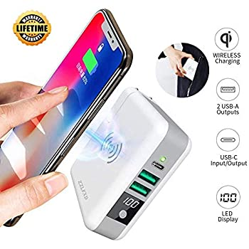 new product 8c8de 09676 Wireless Portable Charger Wireless Charger Power Bank 6700mAh with LED  Digital Display QI Battery Charger External Battery Pack for Cellphone  Android ...