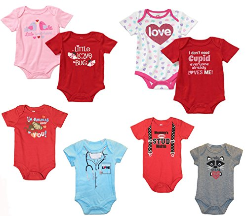 b39c09d74c26 Baby Boys & Girls Valentine's Day All Occasion Bodysuits Dress Up Outfits  Bundle