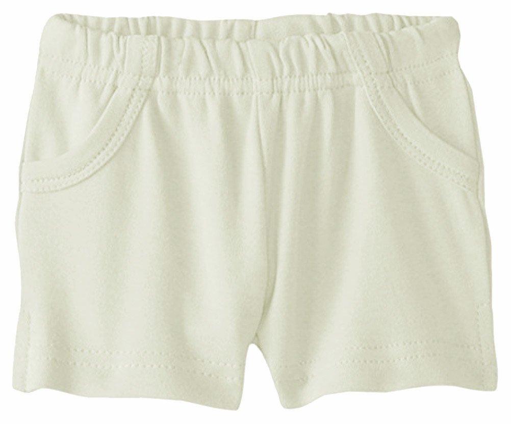 L'ovedbaby Unisex-Baby Newborn Organic Shorts (12-24 Months, Stone)