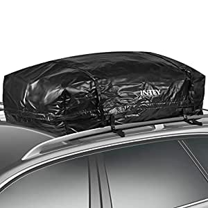INTEY Cargo Bag- 20 Cubic Feet Heavy Duty Bag, 100% Waterproof, 2 Year Warranty, Rooftop Cargo Carrier, Fits ALL Cars:Van, SUV, Cars