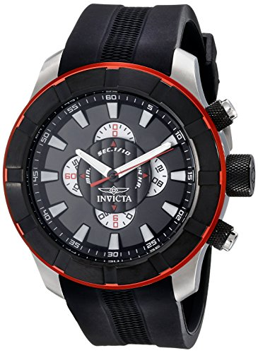 Invicta Men's 18610 S1 Rally Analog Display Japanese Quartz Black Watch
