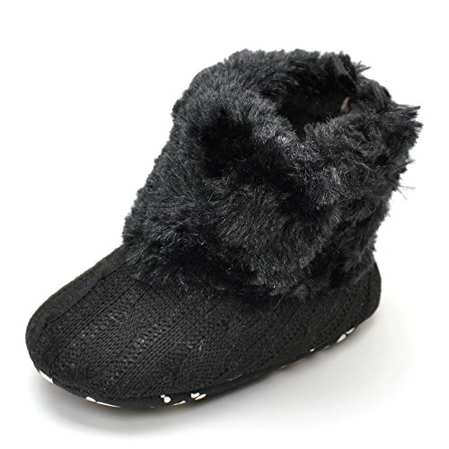Peluche botas blanco blanco Talla:0-6month negro