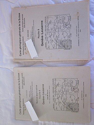 Carte geologique generale de la Suisse, Geneve-Lausanne,( Switzerland) Feuille 5, Map and corresponding Book ( 2 items)