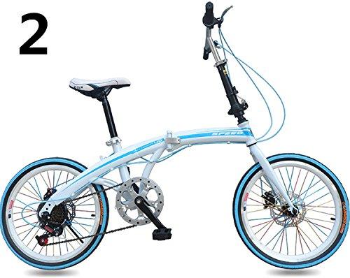 20インチ 折りたたみ自転車 折畳自転車 おりたたみ自転車全11色 おりたたみ自転車W423 B00QA1466C ブルー2 ブルー2