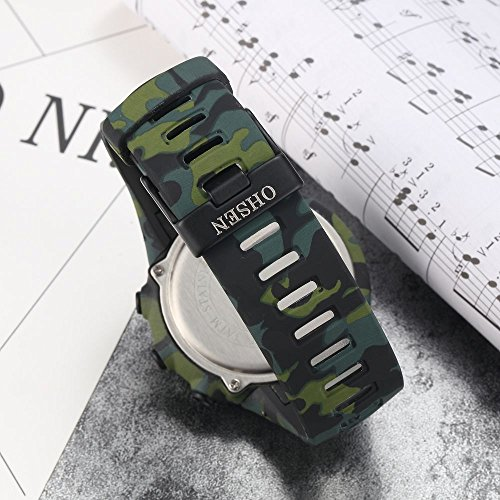 New Camouflage Cool Outdoor Sport Children's Watch Led Light Comfortable Rubber Band Multifunctional Trendy Hot Rugged by autulet (Image #3)
