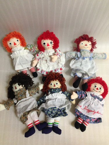As Time Goes By Collector Box Set of 6 Raggedy Ann Dolls Limited Edition of 7,500 Sets Individually (Limited Edition Individually Numbered)