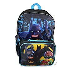 Lego Batman Large Backpack With Lunch Kit
