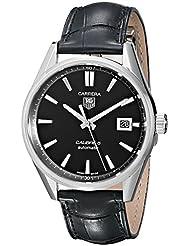 TAG Heuer Mens WAR211A.FC6180 Carrera Calibre 5 Autmoatic Analog  Black Watch