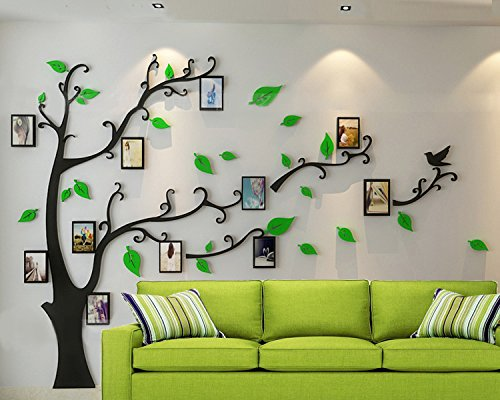 ZPL 3DAcrylkristallwandaufkleber Foto Baum Stil Wohnzimmer Schlafzimmer Arbeitzimmer Größe und Stil ihrer Wahl