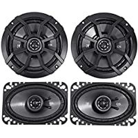 (2) KICKER 43CSC654 6.5 300w Car Audio Speakers+(2) 43CSC464 4x6 300w Speakers