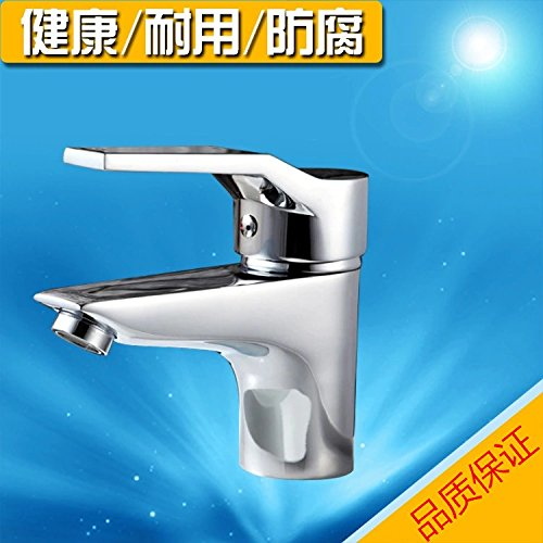 Lpophy Bathroom Sink Mixer Taps Faucet Bath Waterfall Cold and Hot Water Tap for Washroom Bathroom and Kitchen Hot and Cold Copper Single Hole Hot and Cold
