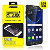 Tekcoo For Samsung Galaxy S7 Screen Protector, [Tempered Glass] Ultra 0.26mm Thin HD Clear Premium Anti-Scratch Screen Protector Cover For Samsung Galaxy S7 S VII G930