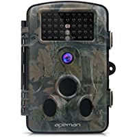 APEMAN Trail Camera 12MP Hunting Game Camera with Infrared Night Version, 2.4 inch LCD Screen, PIR Sensors, IP54 Spray Water Protected Design