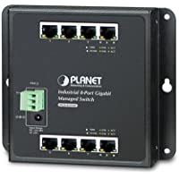 WGS-4215-8T Industrial 8-Port 10/100/1000T Wall-mount Managed Switch (-40~75 degrees C)