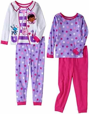 f559304265 Disney Doc McStuffins Girl 4PC Long Sleeve Tight Fit Cotton Pajama Set Size  5T