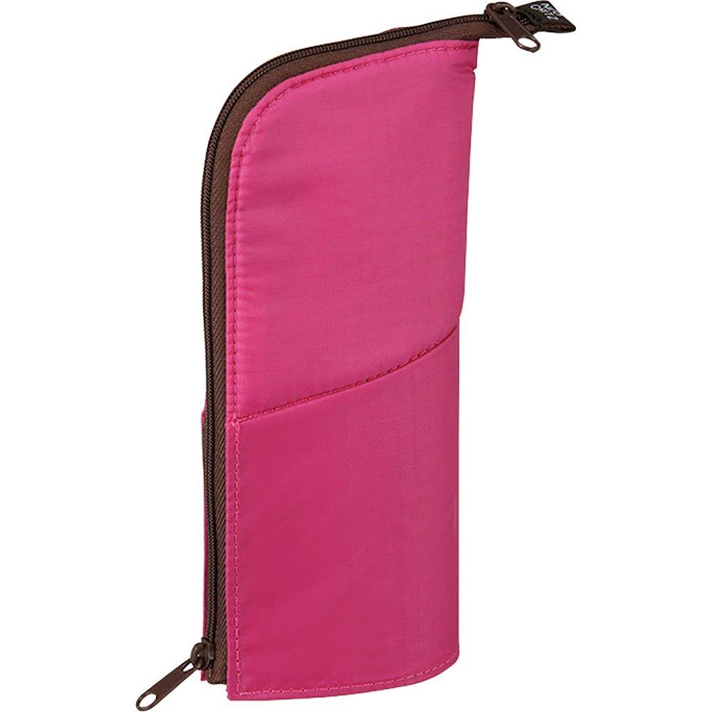 Kokuyo NeoCritz Estuche transformable importado de Japón, color rosa marrón, y marrón, rosa diseño de puntos 8adb85