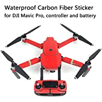 Joint Vcitory Protective Carbon Fiber Stickers Waterproof Vinyl Skin Precision Edge-to-Edge Decal Coverage Controller Battery Wrap for DJI Mavic Pro