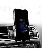 Support Téléphone Voiture Rhino, Gravité Support Voiture à Grille d'Aération en Plastic, pour iPhone XS 8+ 7 6, Samsung S9+ S9 S8+ S8 S7+ S7 Galaxy S7 Edge J3 J5 J7 A8