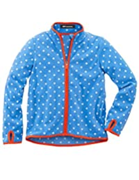 MFrannie Boys Polo Neck Stripe Dot Spring Zip Up Polar Fleece Jacket