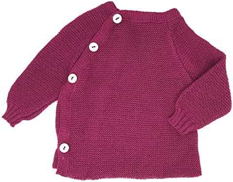 628be1b58 EcoAble Apparel Baby and Toddler Knitted Sweater Cardigan, 100% Organic  Cotton, Sizes Newborn