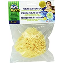 "Baby Buddy's Natural Baby Bath Sponge 4-5"" Ultra Soft Premium Sea Wool Sponge Soft on Baby's Tender Skin, Biodegradable, Hypoallergenic, Absorbent Natural Sea Sponge"