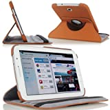 MoKo(TM) 360 Degree Rotating Cover Case for Samsung Galaxy Note 8.0 inch GT - N5100 / N5110 Android Tablet, BROWN (with Vertical and Horizontal Stand and Smart Cover Auto Wake/Sleep)