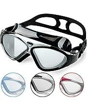 Zwembril voor volwassenen, anti-condens, zonder lekkage, duidelijk zicht, uv-bescherming, 180 graden zicht, eenvoudig aan te passen, professionele super comfortabele zwembril voor heren en dames