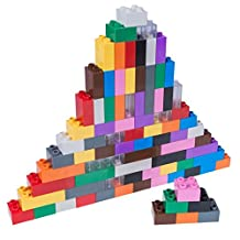 Classic Big Briks by Strictly Briks | Building Brick Set 100% Compatible with All Major Brands | 2 Large Block Sizes For Ages 3+ | Premium Tight Fit Building Bricks in 12 Rainbow Colors | 84 Pieces