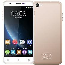 Oukitel U7 Pro, 5.5 inch Android 5.1 3G Smartphone, MT6580 Quad Core 1.3GHz, ROM 8GB+RAM 1GB, Dual SIM, 2.0MP+13.0MP (Gold)
