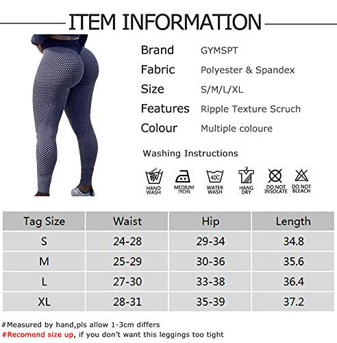 POWERASIA High Waisted Yoga Pants for Women Butt Lift Ruched Scrunch Butt Leggings Workout Tummy Control Booty Tights