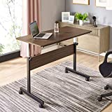 """Mr IRONSTONE Height Adjustable Desk Sit-Stand 47.6"""" Elevate Mobile Computer Desk Home & Office Utility Table with Rolling Wheels"""