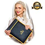 "Mannhe Fireproof Fire Resistant Document Bag Pouch - 14.6""x11"" Double Layer Fiberglass Fire Water Dust Smoke-Resistant Safe Bag Security Storage for Documents, Passport, Photos, Money"