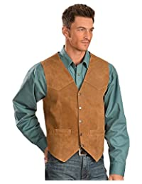 Scully Men's Lambskin Snap Front Vest