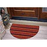 "3D Semicircle Floor Stickers Personalized Floor Wall Sticker Decals,Pattern Artistic Tribal Ancient Borders Doodle,Kitchen Bathroom Tile Sticker Living Room Bedroom Kids Room Decor Art Mural D39.4"""