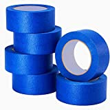 LICHAMP 6-Piece Blue Painters Tape 2 inches