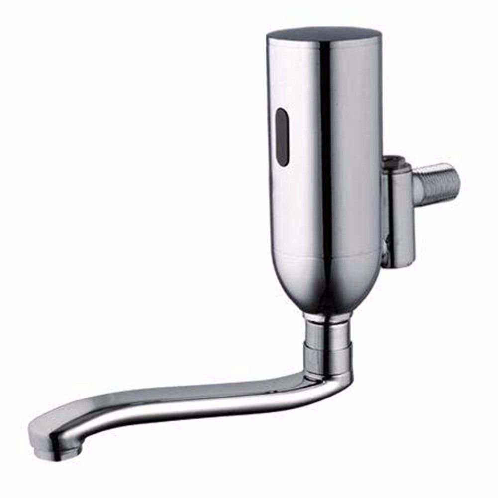 ETERNAL QUALITY Bathroom Sink Basin Tap Brass Mixer Tap Washroom Mixer Faucet Brushed brass single handle one hole ceramic valve glass shape and cold water bathroom basin