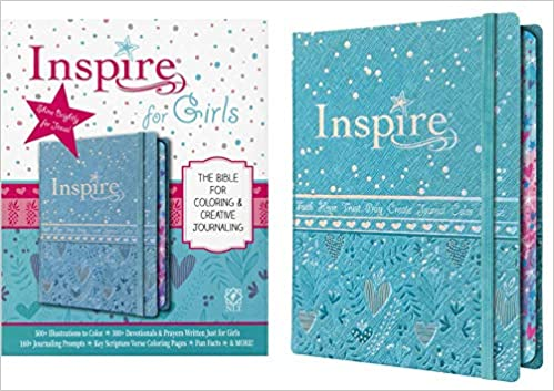 Tyndale NLT Inspire Bible For Girls (Hardcover LeatherLike, Metallic Blue):  Journaling And Coloring Bible For Kids – Over 500 Scripture Illustrations  To Color - Creative Bible Journal : Tyndale, Larsen, Carolyn:  9781496426659: Amazon.com: Books