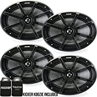 Kicker 6x9 Inch PS-Series Powersports Speakers 40PS692 bundle
