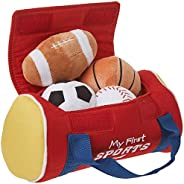 GUND Baby My First Sports Bag Stuffed Plush Playset, 5 Piece, 8&