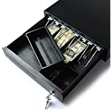 AGPtek Point of Sale/Cash Register MINI Heavy Duty Removable RJ12 Key-Lock manual Bill Coin ...