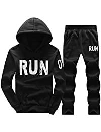 Men's Hooded Tracksuit Warm Pullover Jogging Running Sweat Suits