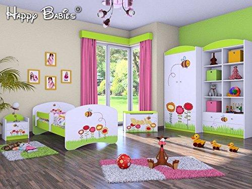 5-teiliges Set Jugendzimmer Kindermöbel  Insekten  Kinderbett für Mädchen Jungen