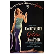 GILDA starring RITA HAYWORTH movie poster CHARLES VIDOR 1946 24X3 HOT RARE (reproduction, not an original)