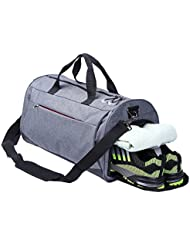 AiiGoo Sports Gym Bag Waterproof with Shoes Compartment Large Capacity Travel Duffel Bag