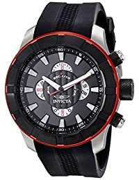 Invicta Men's 18610 S1 Rally Analog Display Japanese Quartz Black Watch