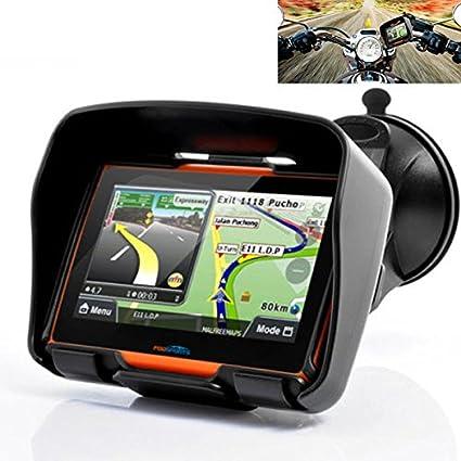"4.3/"" Waterproof GPS Motorcycle Sat Nav Car Navigation Touch Screen Bluetooth 8GB"