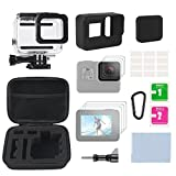 Gopro Accessories Kits Action Camera Accessory Kit for Gopro Hero 5 6 With Waterproof Housing Case, Storage Bag, Silicone Rubber Case and More for GoPro Hero 5/6 Outdoor Action Camera Sport Camera